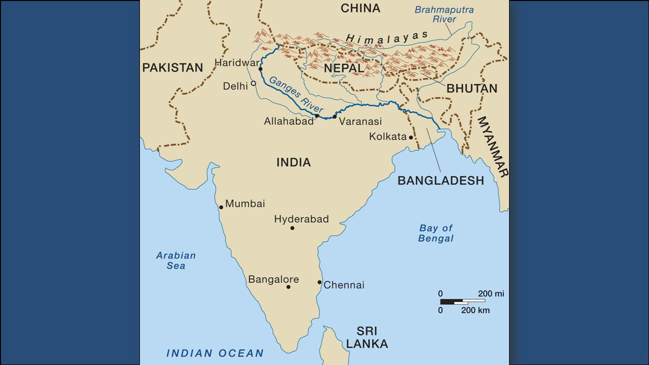 The ganges river starts in the himalayas and flows southeast 4 gumiabroncs Image collections