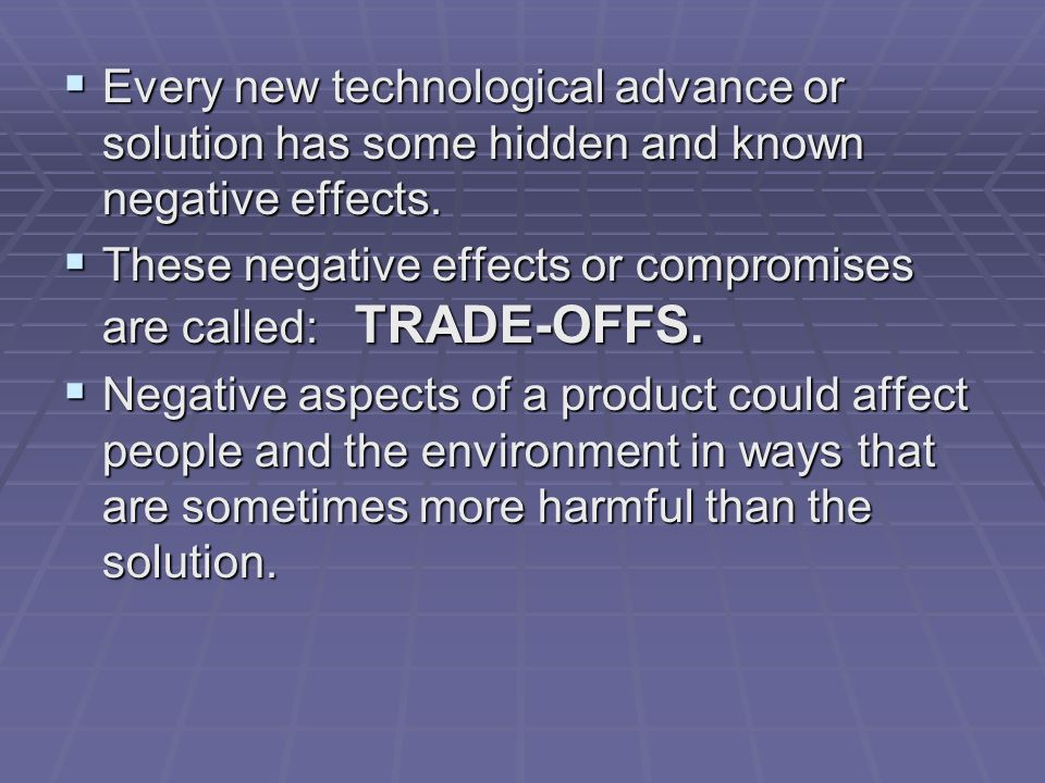 positive and negative aspects of technology