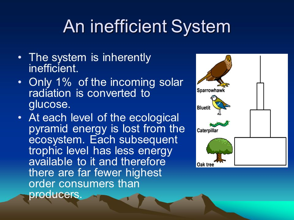 An inefficient System The system is inherently inefficient.