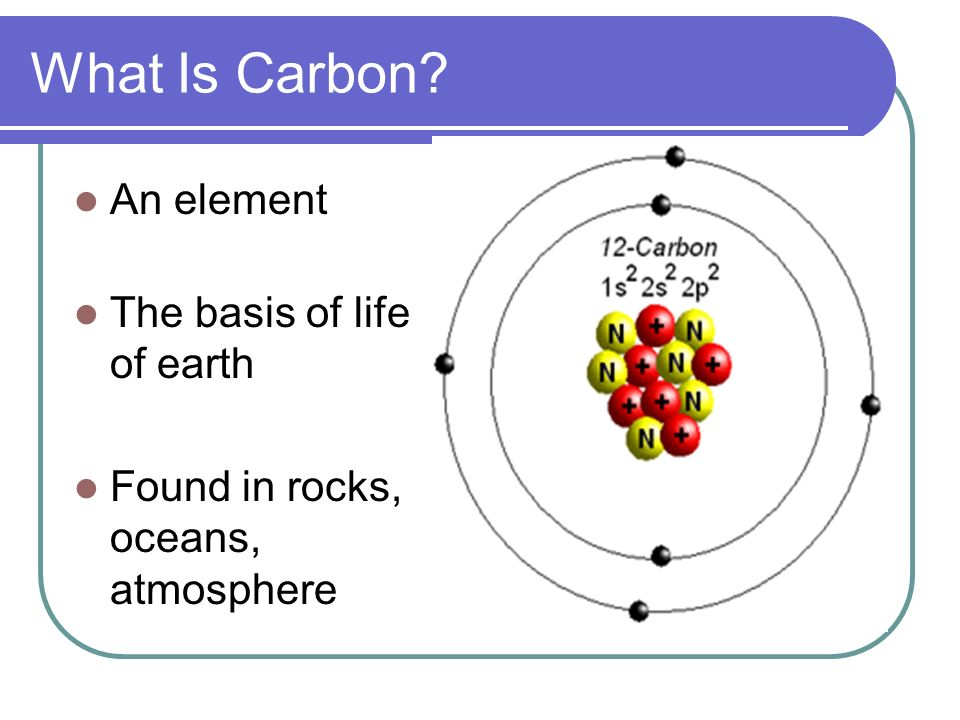 What Is Carbon An element The basis of life of earth Found in rocks, oceans, atmosphere