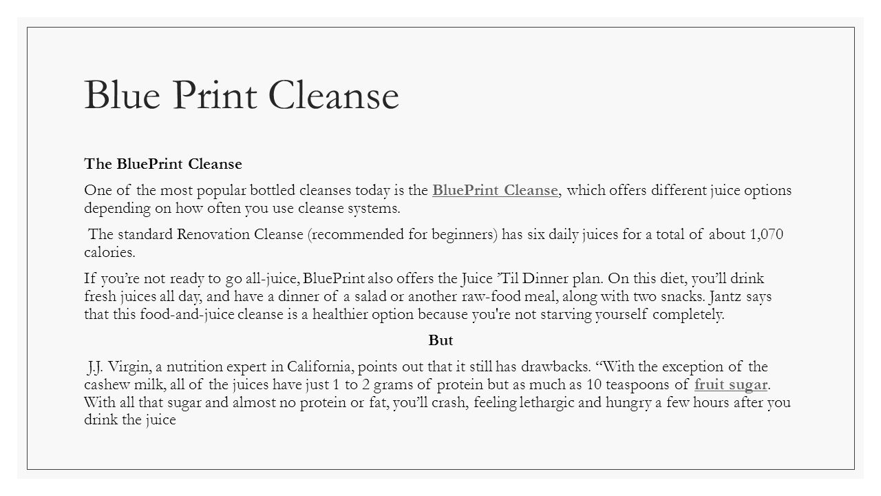 To cleanse or not to cleanse by linda taylor board certified blue print cleanse the blueprint cleanse one of the most popular bottled cleanses today is the malvernweather Gallery