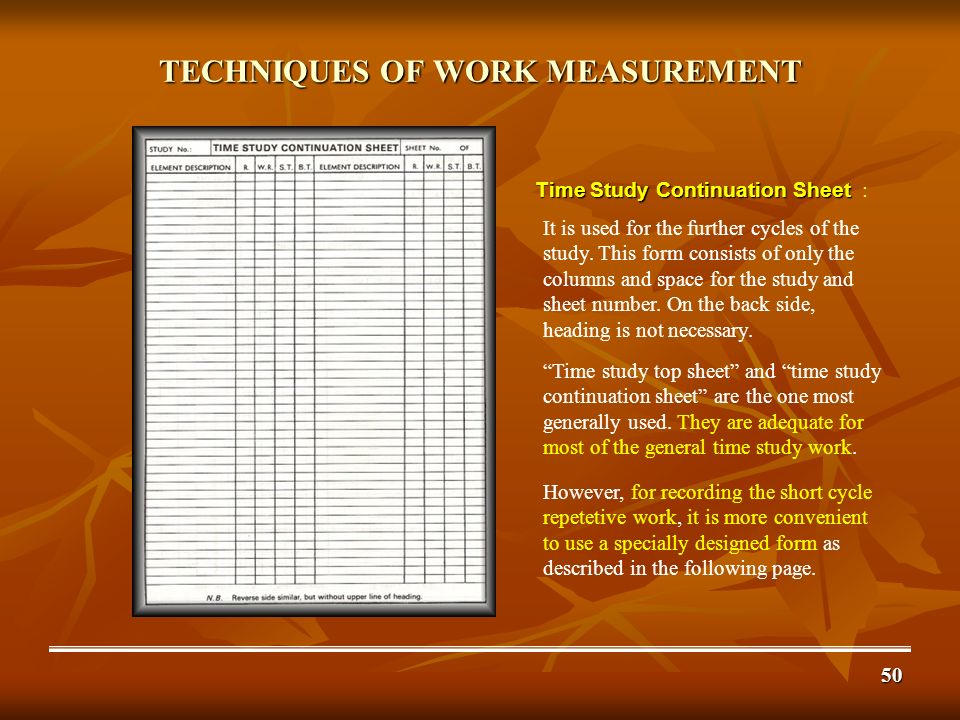 work study work measurement