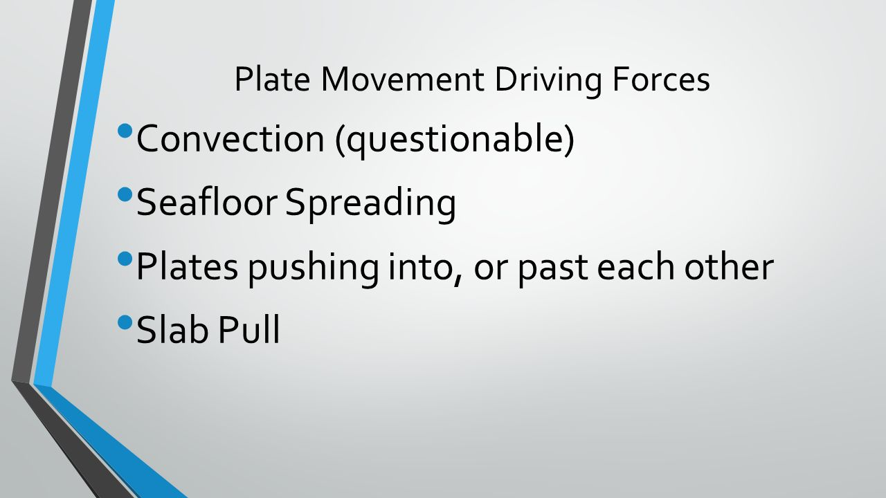 worksheet Theory Of Plate Tectonics Worksheet the theory of plate tectonics chapter 11 httpswww youtube com 26 movement driving forces convection questionable seafloor spreading plates pushing into or past each other slab pull