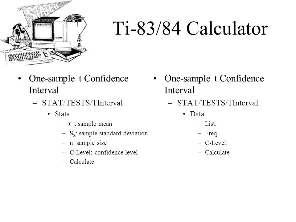 Ap statistics chapter 23 inference for means objectives the t 32 ti 8384 ccuart Gallery