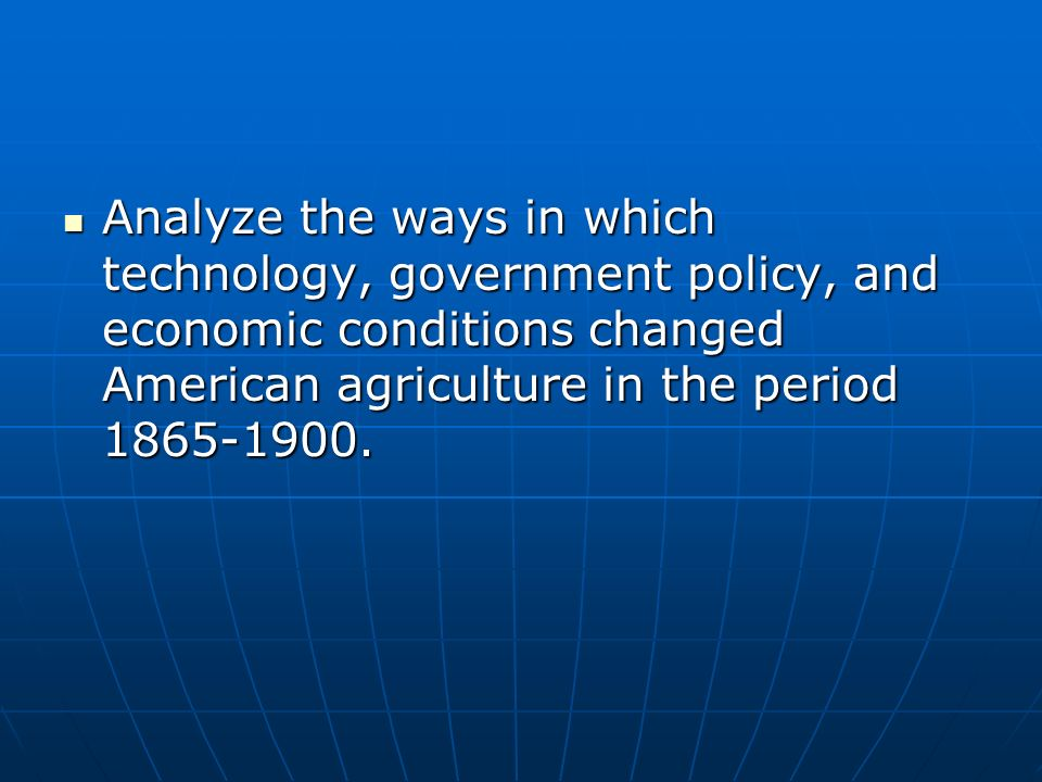 dbq american agriculture technology 1865 1900