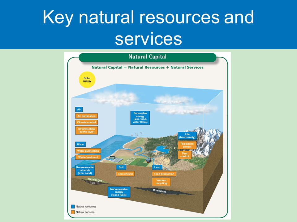 Key natural resources and services