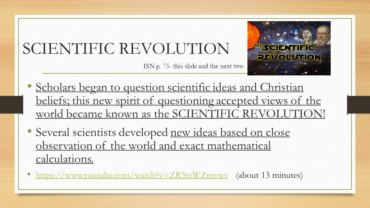 the scientific revolution and new learning