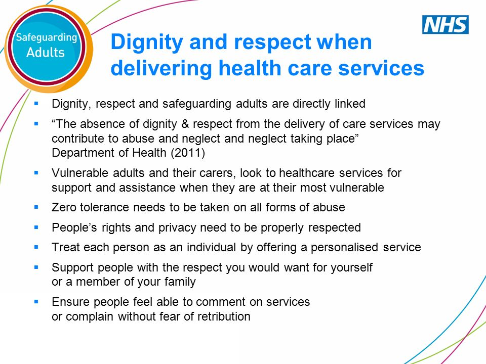essay on dignity and respect in nursing Human dignity essayshuman dignity to me means not only possessing strong morals that help society to prosper and improve, but following through on them every human being has the basic right of respect both of himself and by his fellow man.