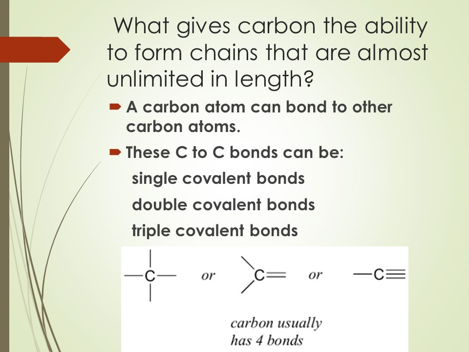 Chapter 2–Section 3 Carbon Compounds This section explains how the ...