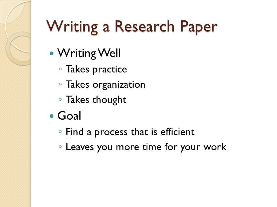 Write my preparing a research paper