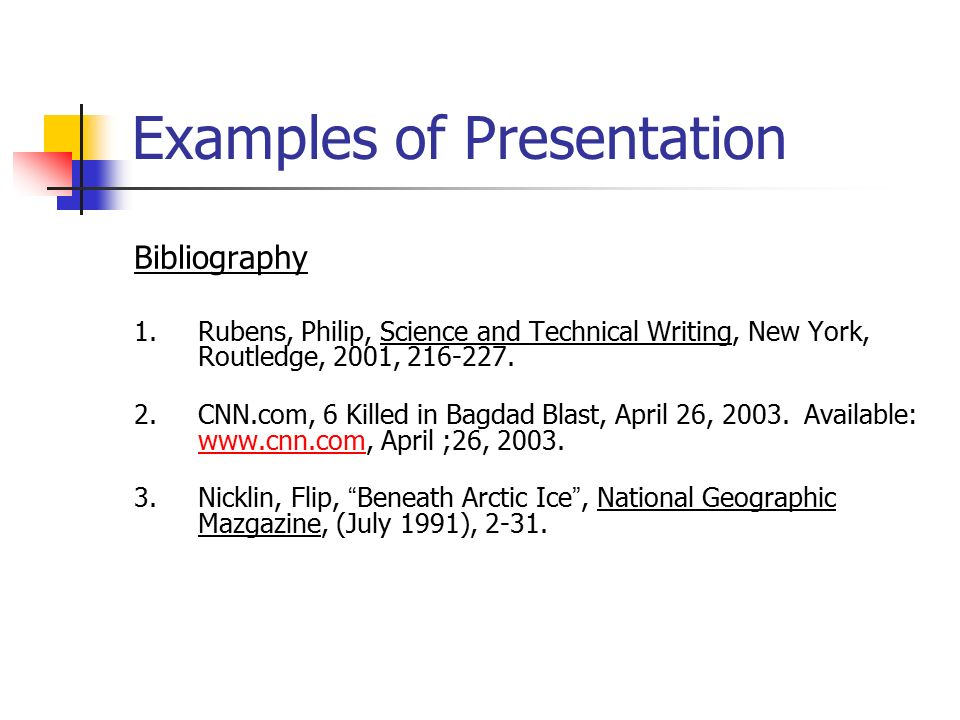 How to write a bibliography for a science project