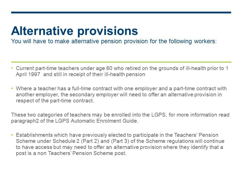 Auto enrolment v14 teachers pensions scheme contractual 10 alternative provisions spiritdancerdesigns Image collections