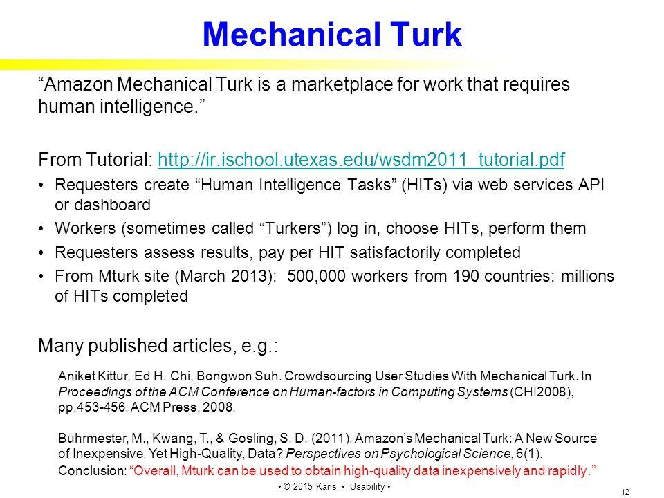 mechanical turk jobs