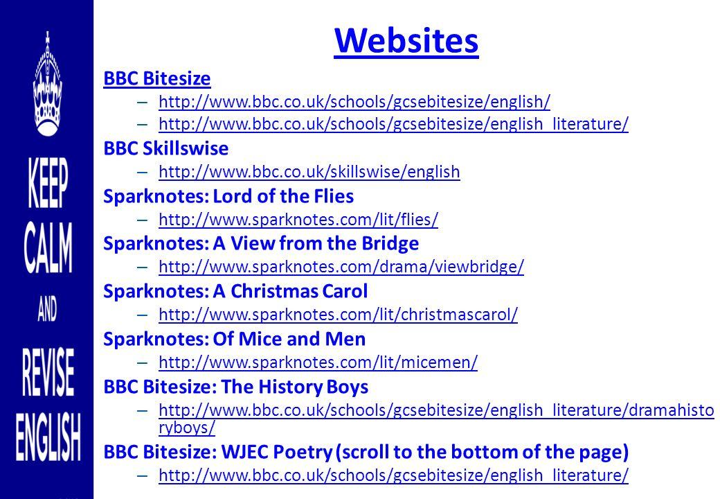 preparing for gcse english language and gcse english literature  16 websites