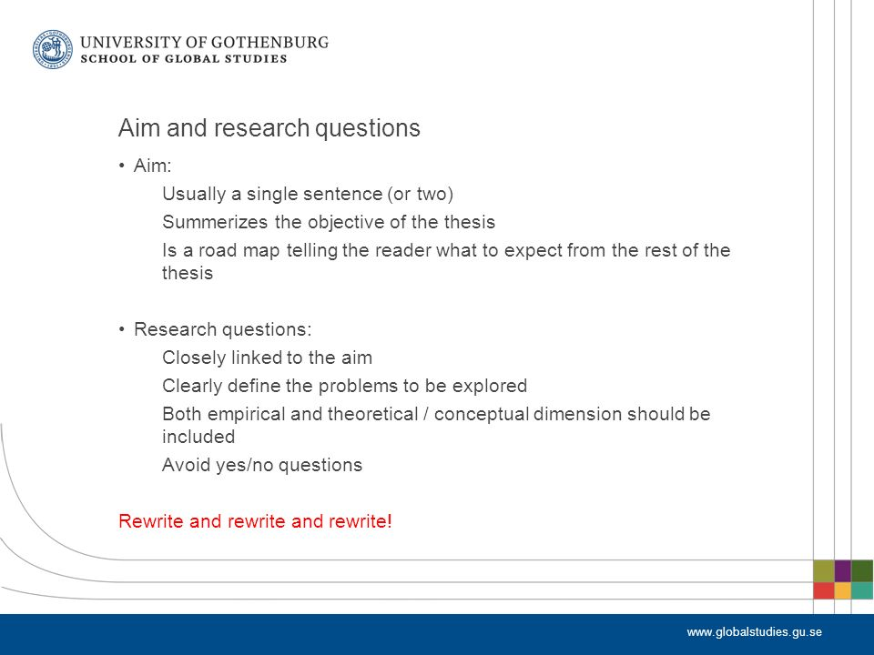 master thesis research questions