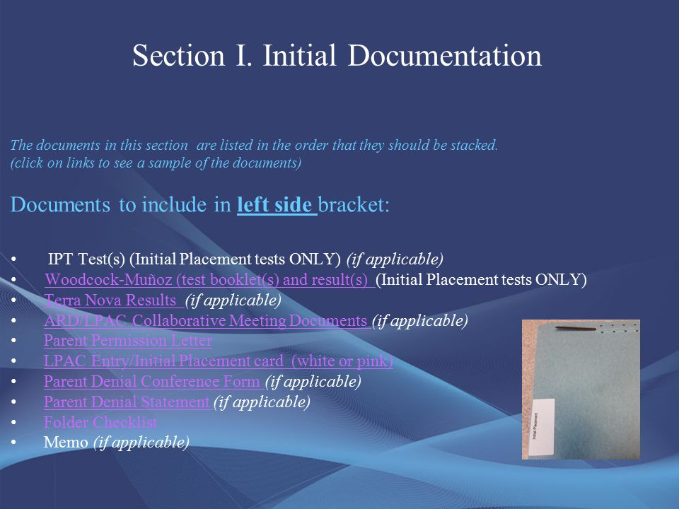 English Language Learners: Documentation Folders. - ppt download