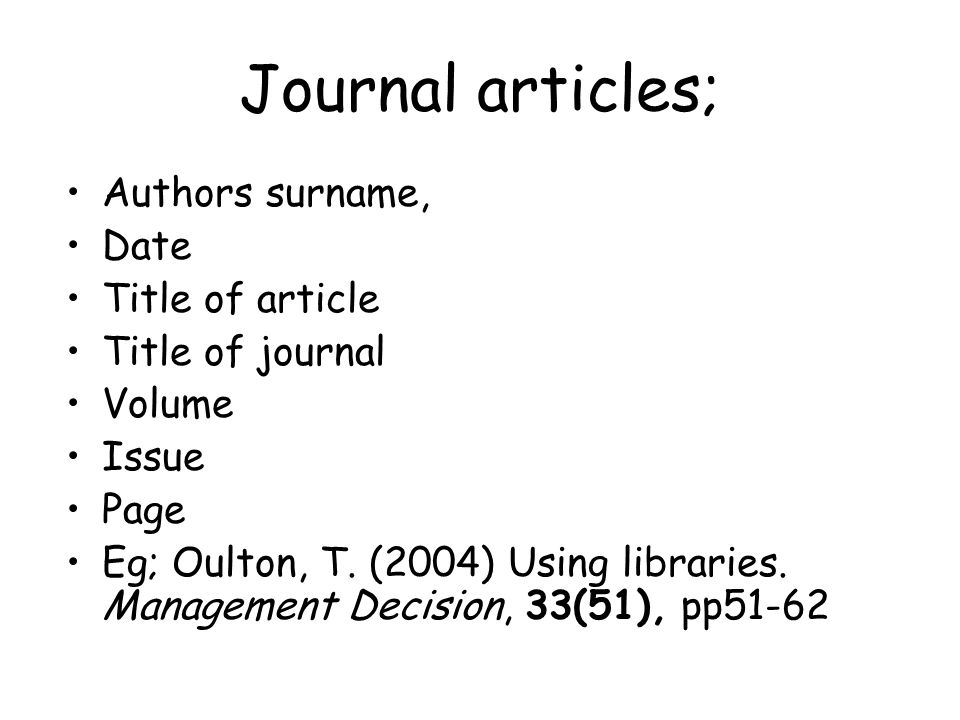 Harvard Reference Generator: Referencing a Journal Article