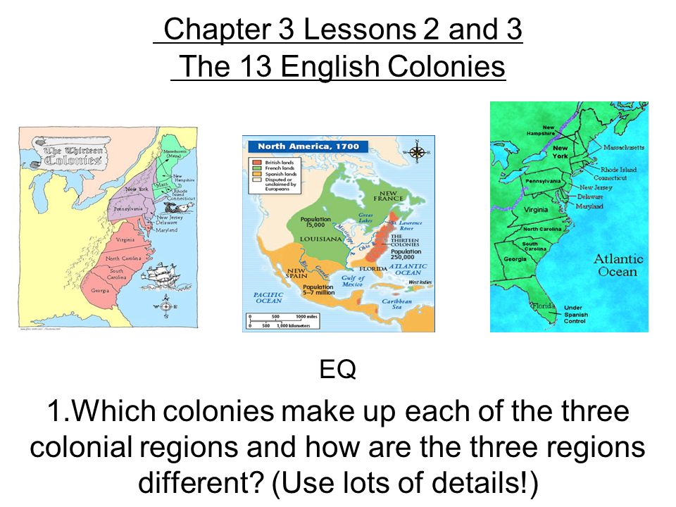 differences between the three colonies Slavery in colonial british north america question what are some common misconceptions about colonial history answer while there are.