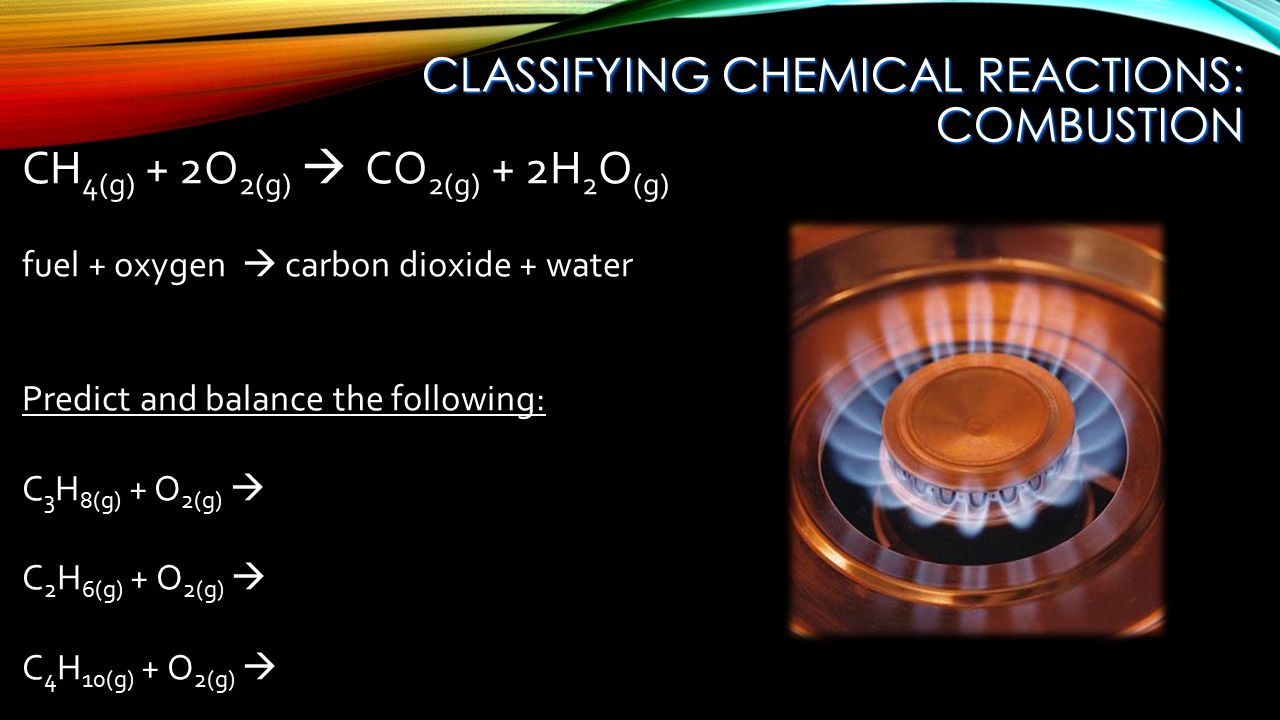 analysis of a chemical reaction