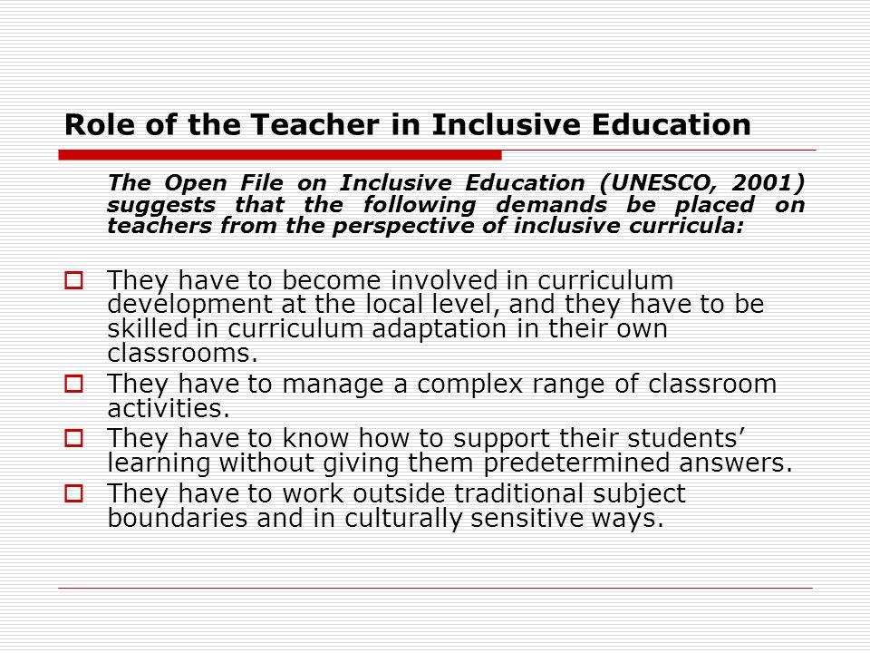 role of the teacher
