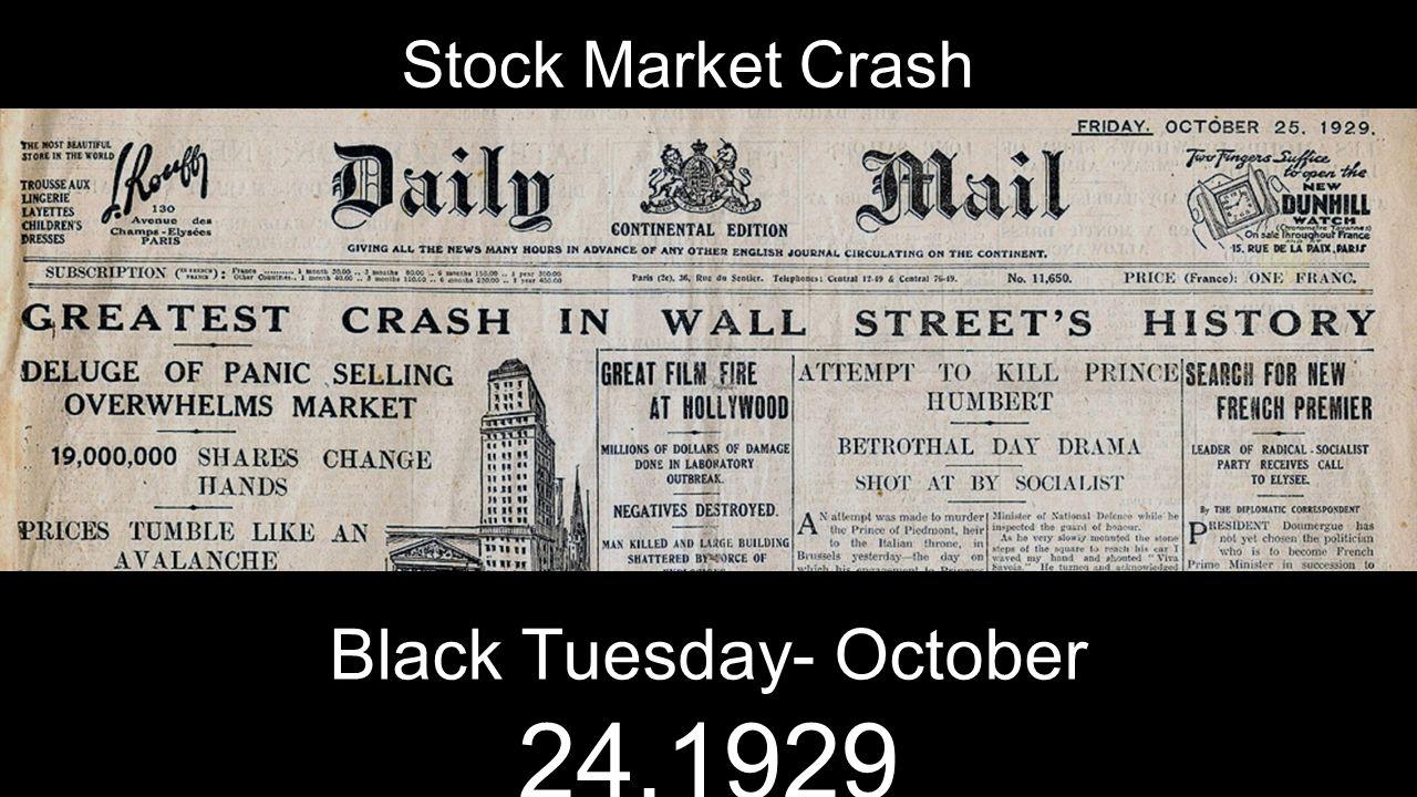 depression and stock market crash