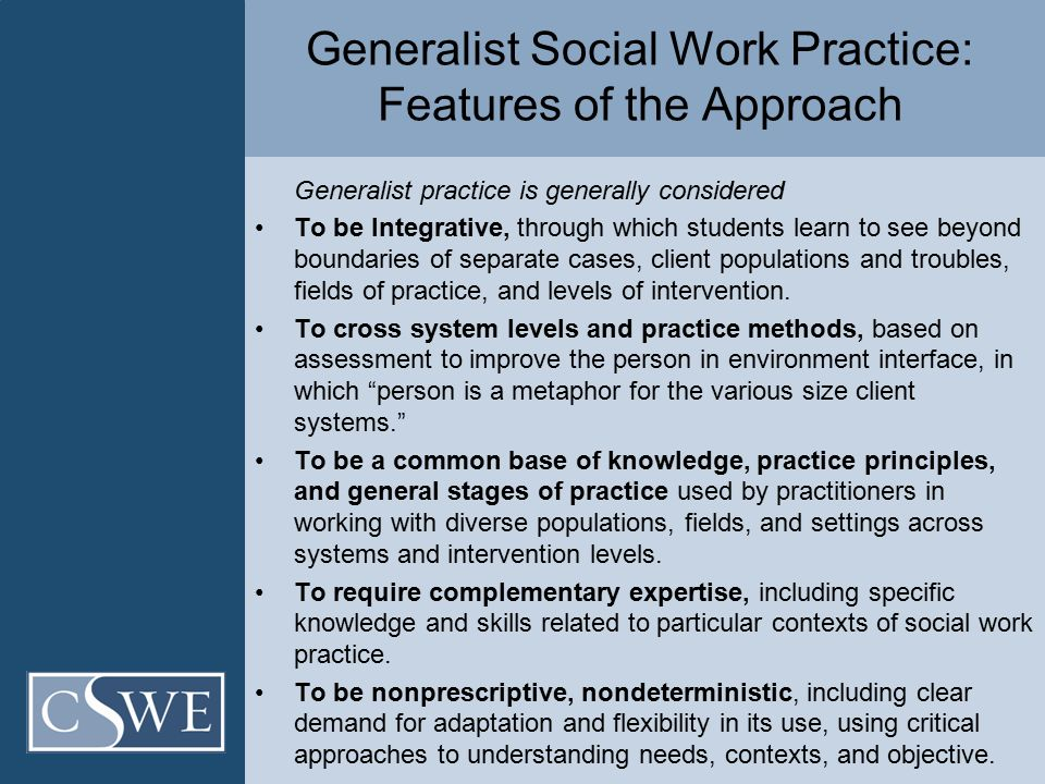 Council on Social Work Education | Generalist Social Work Practice ...