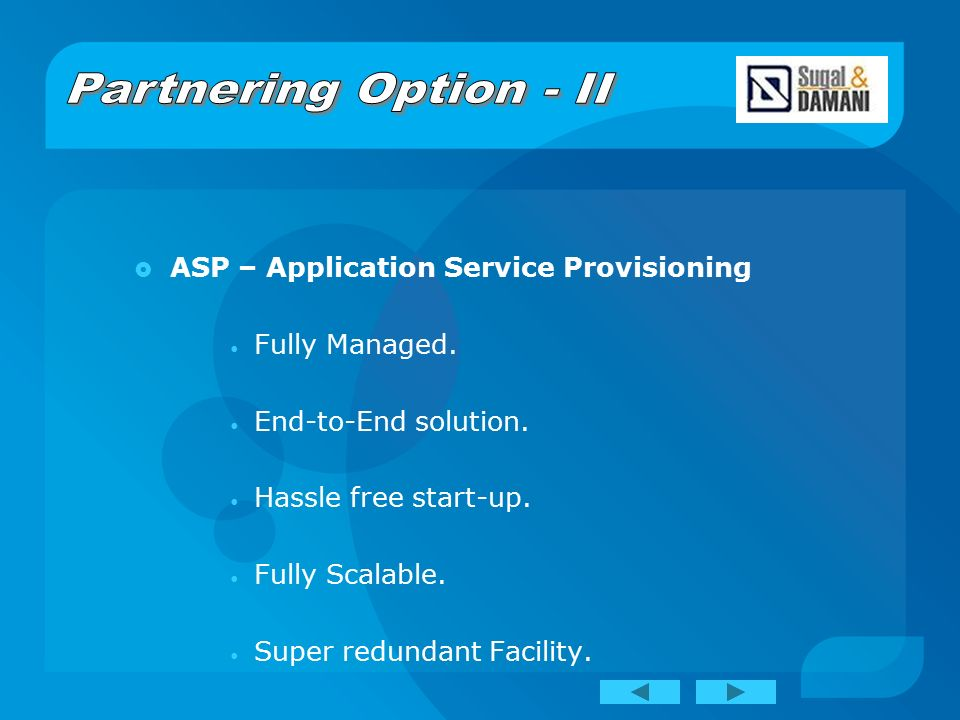  ASP – Application Service Provisioning Fully Managed.