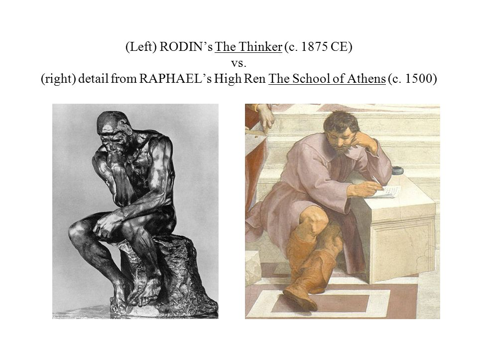 (Left) RODIN's The Thinker (c CE) vs.