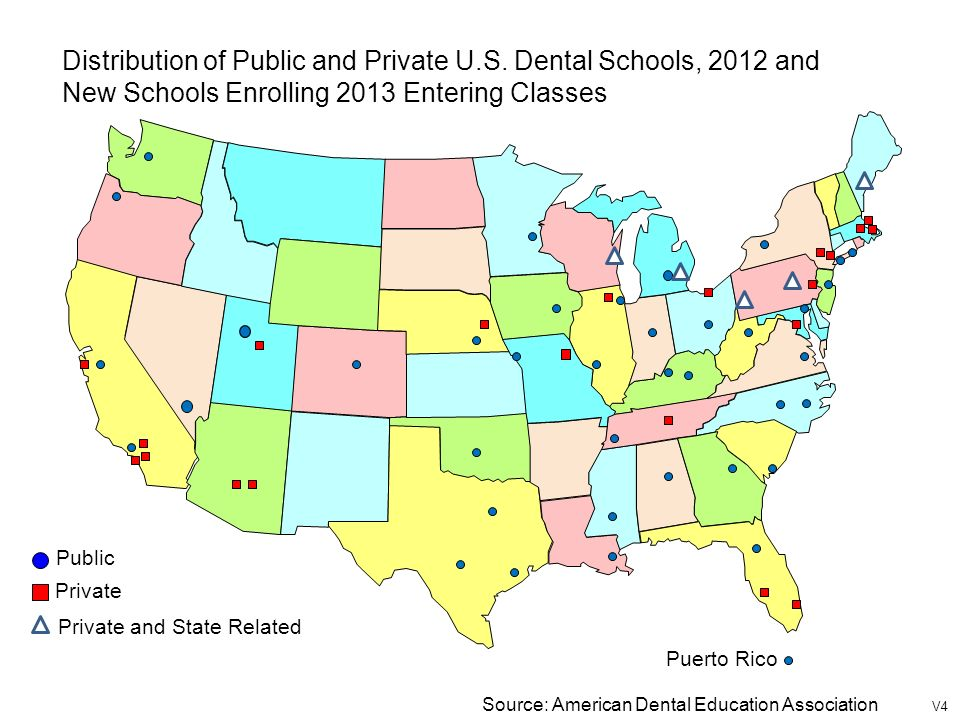 American Dental Education Association Deans Briefing Book Ppt - Map of us dental schools