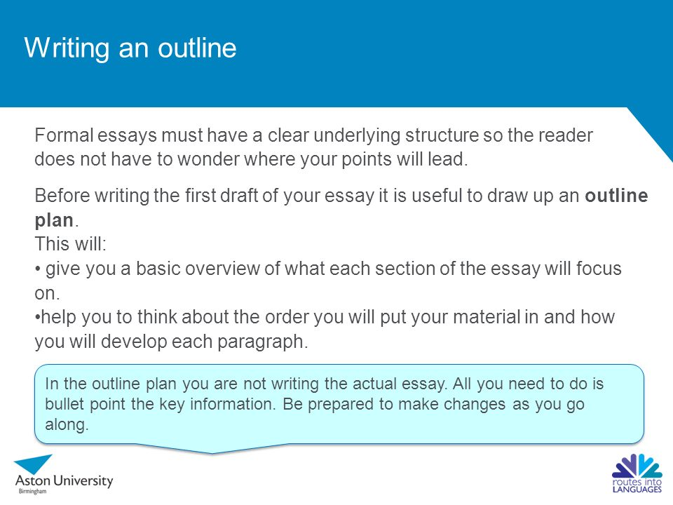 developing an outline for an essay How to Make a Topic Outline for an Essay