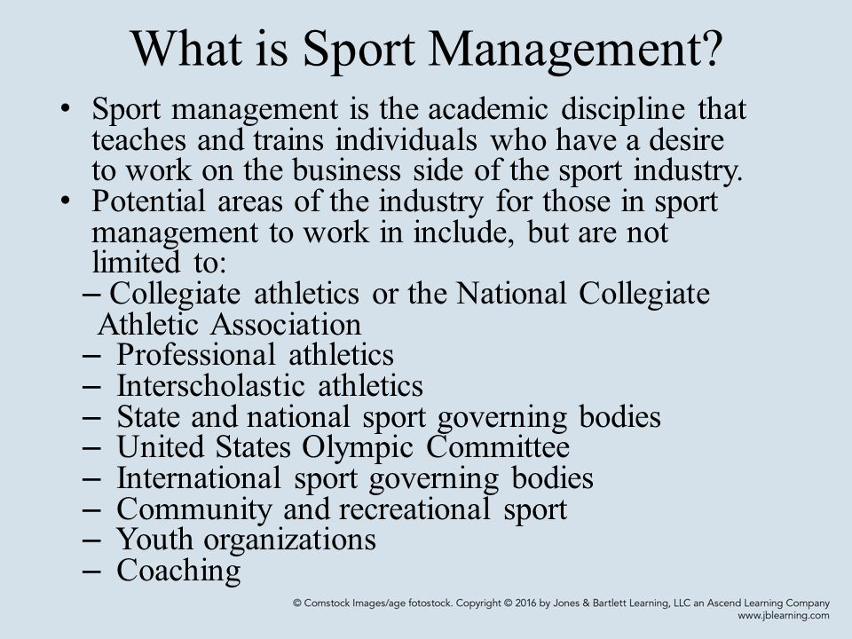 What is Sport Management.