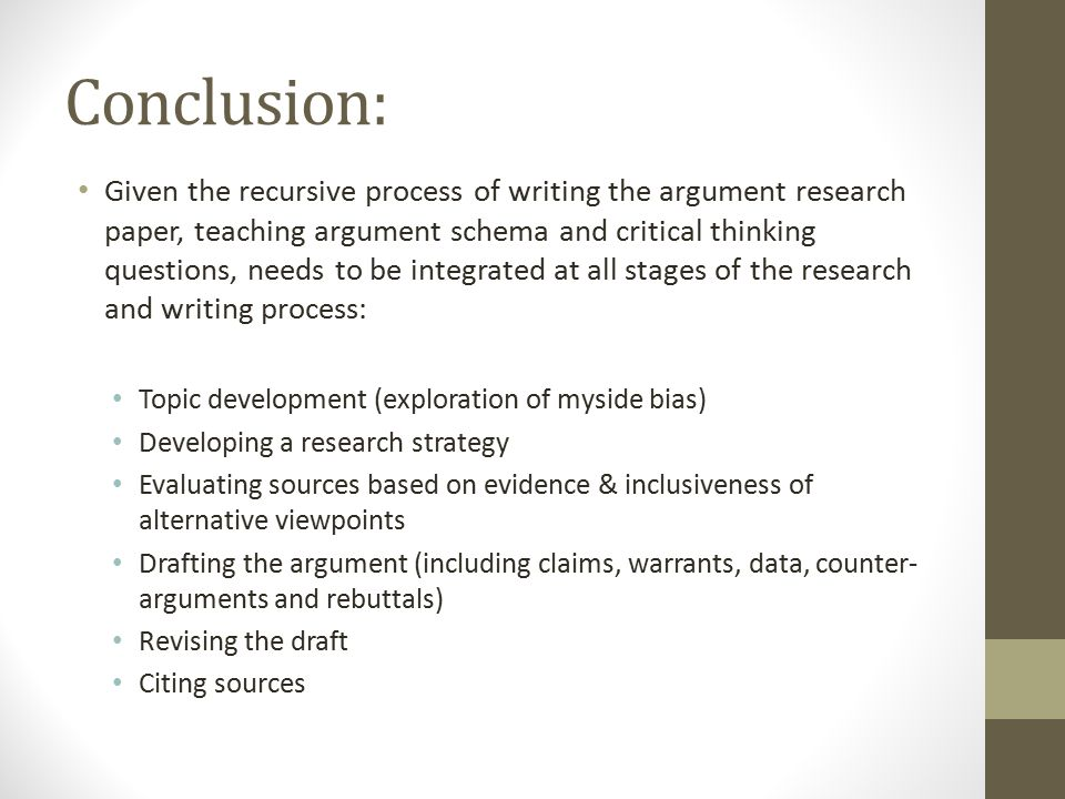 write great conclusion research paper Research, or paper conclusions take the time to bring your paper to a the overall quality of your paper how to write a purposeful conclusion:.