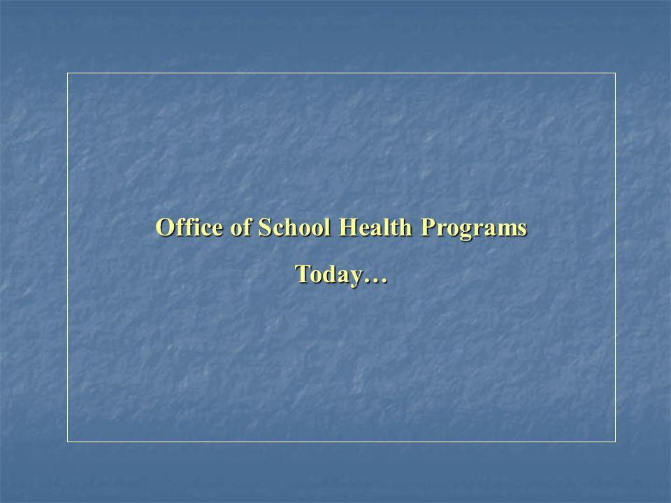 Office of School Health Programs Today…