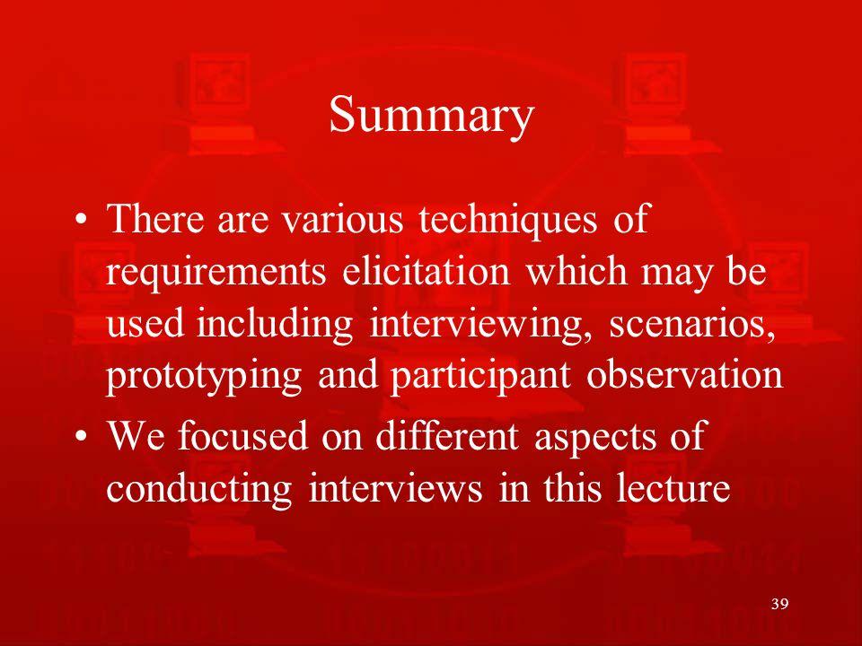 scenarios for interviews