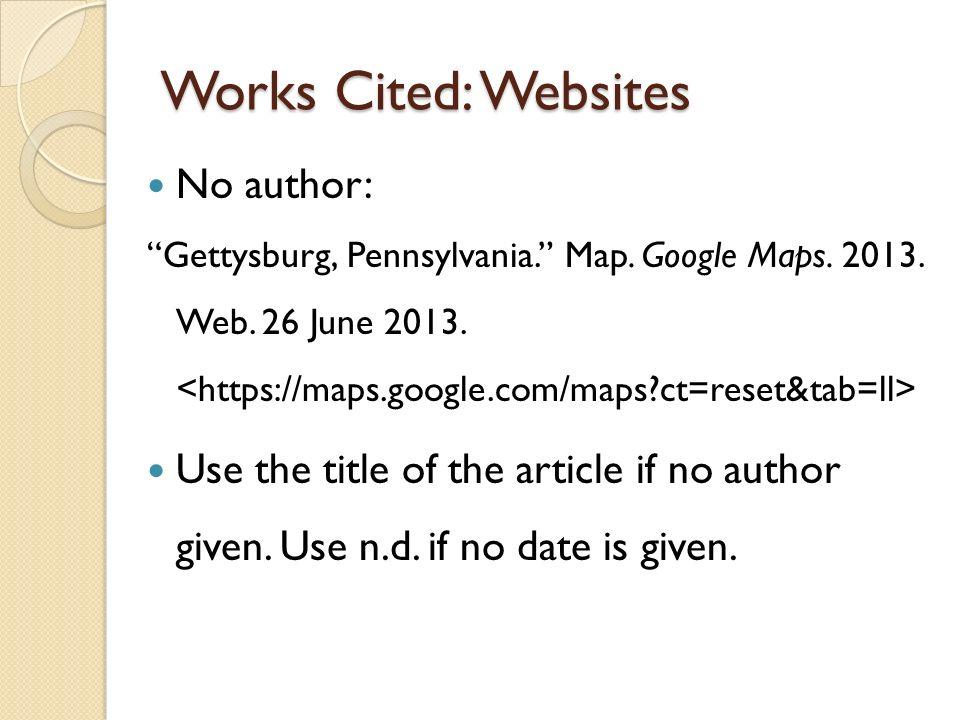 works cited for websites