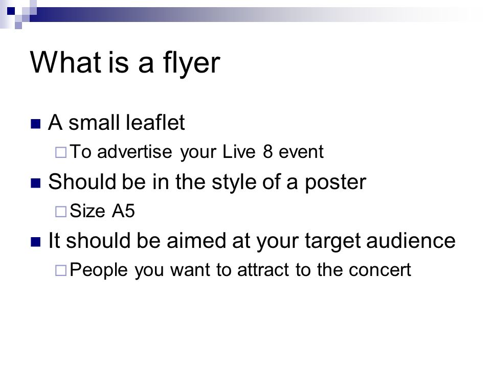 what is a flyer
