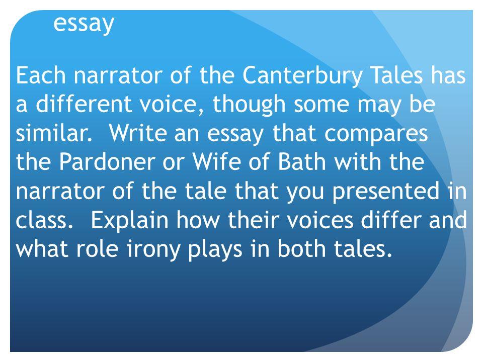 pardoners tale essays