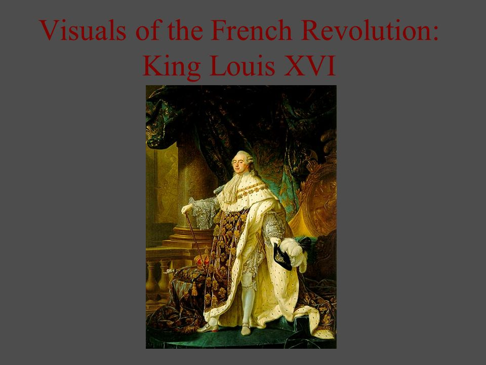 Visuals of the French Revolution: King Louis XVI