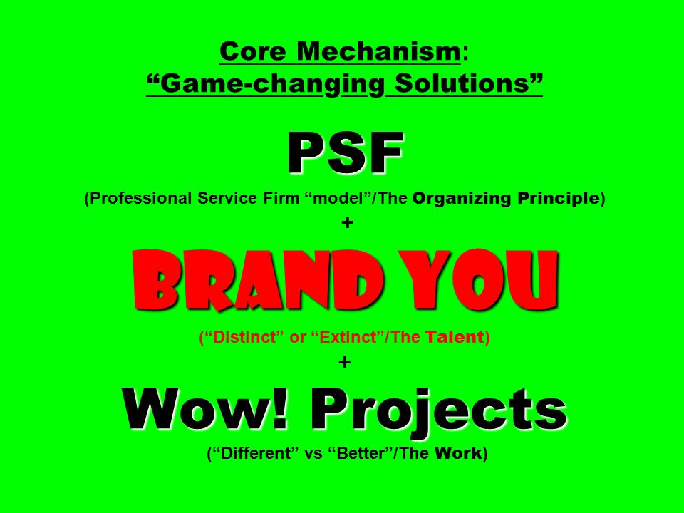 PSF Brand You Wow.