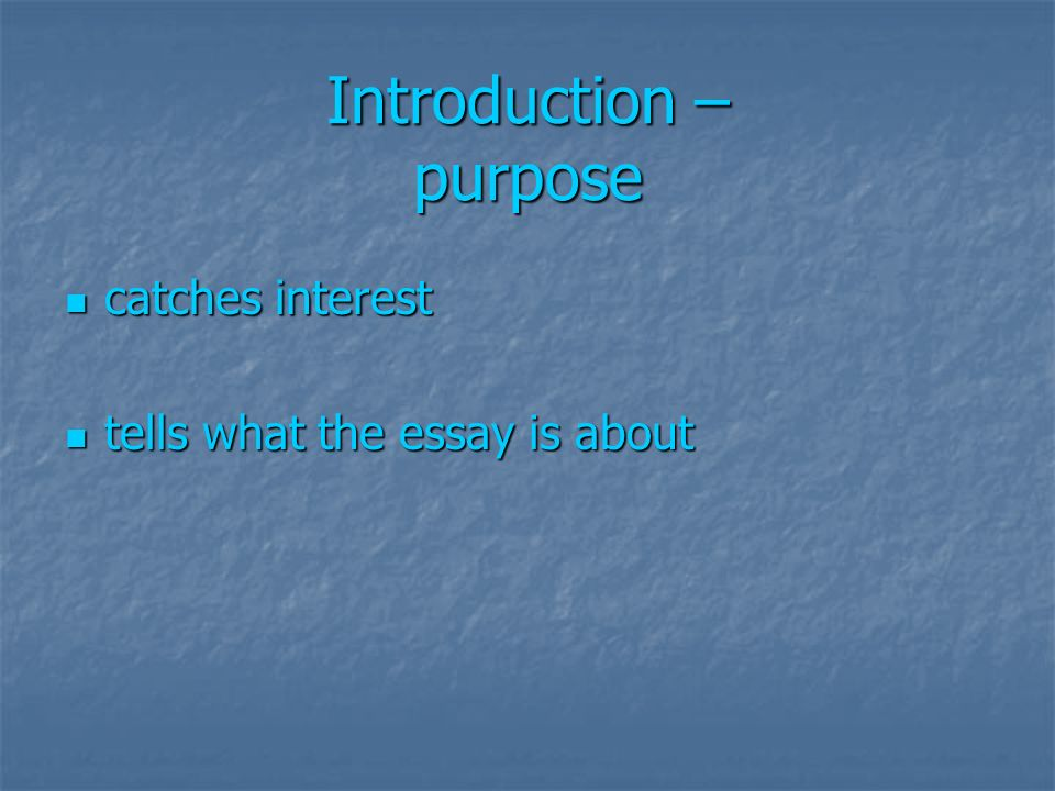 purpose of an introduction in an essay