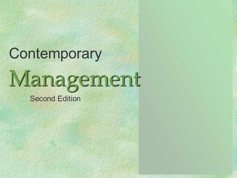 ContemporaryManagement Second Edition