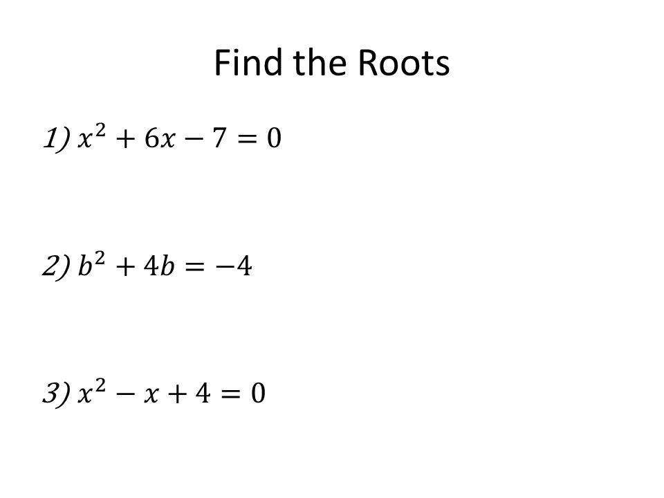 Find the Roots