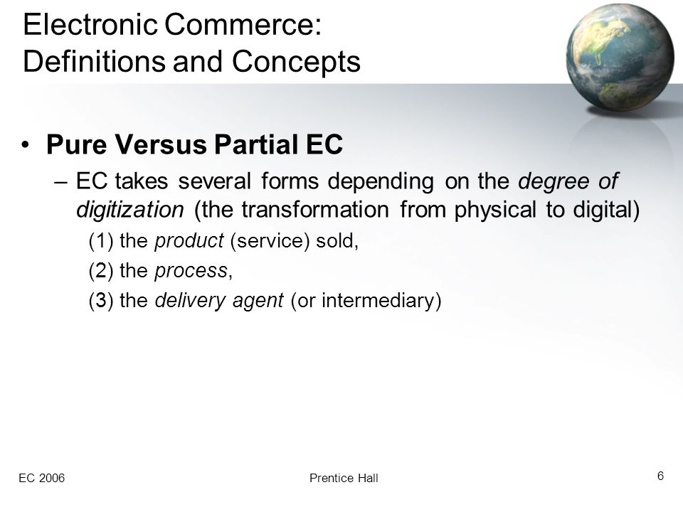 EC 2006Prentice Hall 7 Exhibit 1.1 The Dimensions of Electronic Commerce