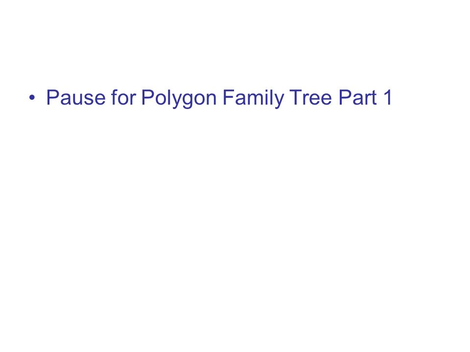 Pause for Polygon Family Tree Part 1