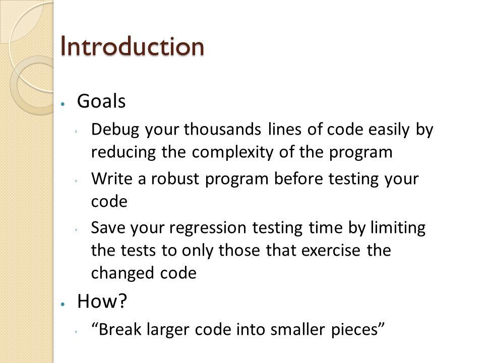 Robust Program