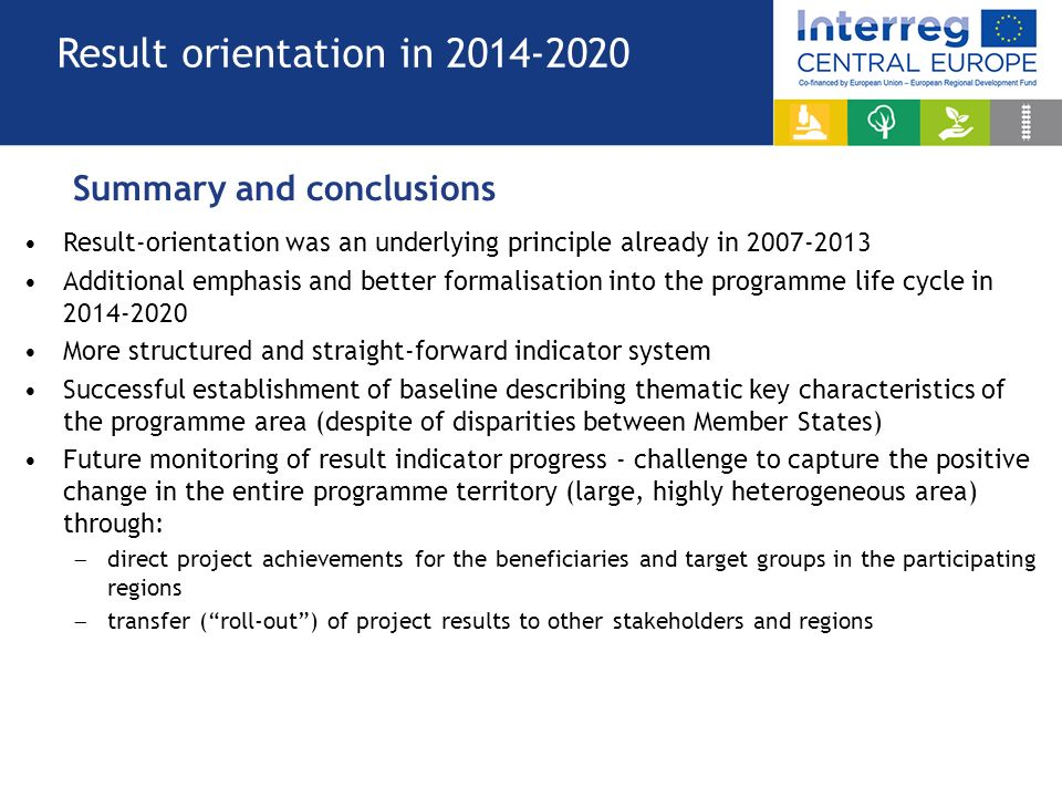Result Orientation in Interreg CENTRAL EUROPE Annual Meeting ...