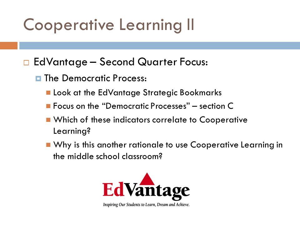 Cooperative Learning II  EdVantage Bookmark: C.