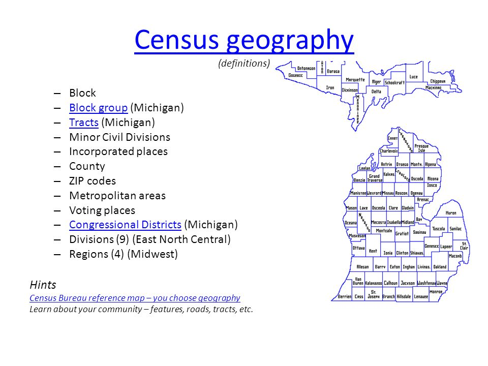 CensusCensus = building blocks Data - every 10 years from everyone ...
