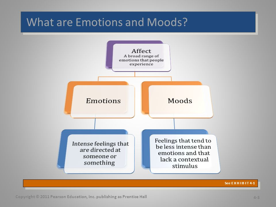 What are Emotions and Moods. Copyright © 2011 Pearson Education, Inc.