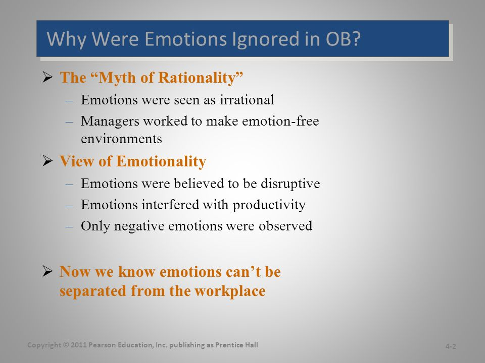 Why Were Emotions Ignored in OB.